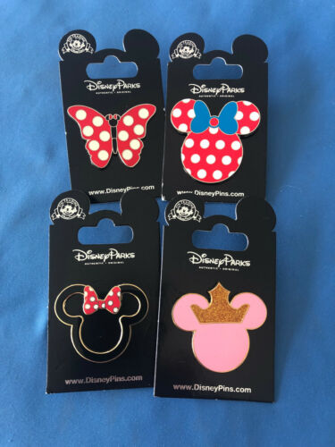 MICKEY MINNIE ICONS  Disney Pin LOT of 4 pins Set  # 1  NEW on  Cards AUTHENTIC