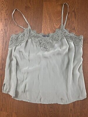 NWT Abercrombie & Fitch Lace Cami / Tank Olive Sage L Large