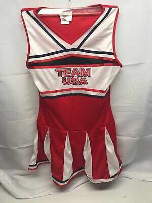 Dream Weavers Women's USA Team Cheer Adult Halloween Dress Up Costume Large - Team Usa Halloween Costumes