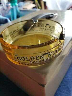 Vintage Las Vegas Golden Nugget Gambling Hall Ashtray Downtown Las Vegas