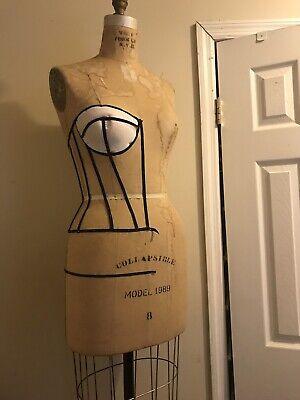 Collapsible Vintage Wolf Dress Form Mannequin Size 8 Model 1989