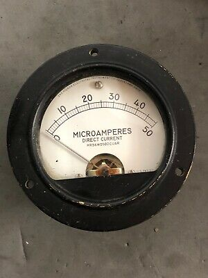 Vintage Hickok Milliamperes Meter Gauge Model 46r