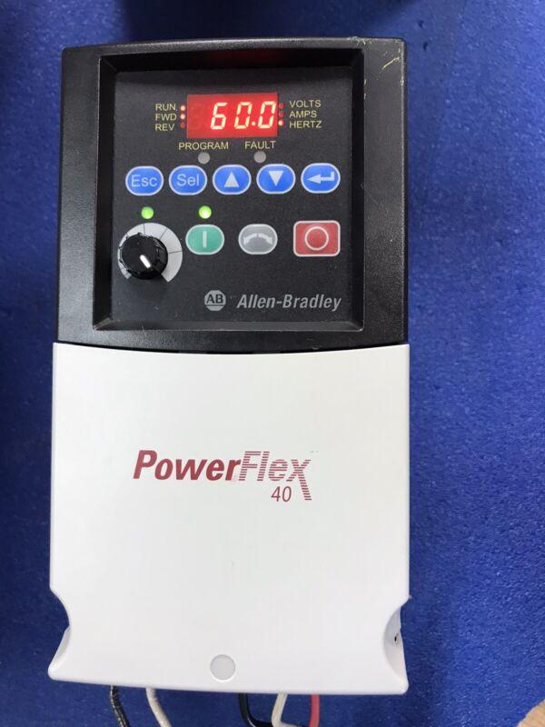 3HP Allen-Bradley PowerFlex 40 AC Drive 22B-D6P0N104 Tested/ MFG Date 2011
