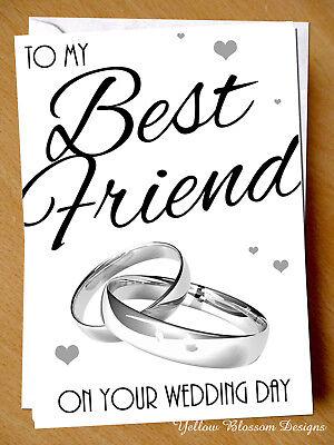 Wedding Greeting Card Marriage Best Friend Wedding Day Funny Love Joke Happy (Happy Best Friend Day Funny)