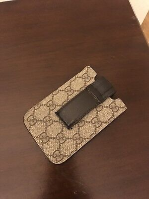 Authentic Unisex Gucci  Phone Brown Guccissima Case for iPhone 4 4s