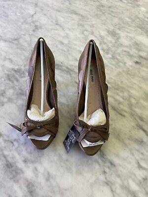miu miu shoes Calzature Donna Dark Rose Color, Nappa Washed Pumps, Size 36
