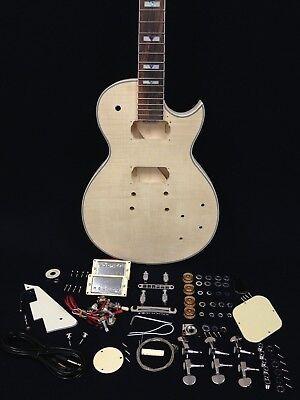 Les Paul Style Guitar - LP Les Paul Body Style, flame maple veneer Electric Guitar DIY Kits E-238DIY