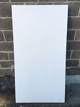 White Office Desk with Adjustable Height Legs Hunters Hill Hunters Hill Area Preview