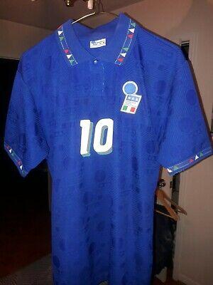 ROBERTO BAGGIO DIADORA 1994 WORLD CUP ITALY ORIGINAL JERSEY MEDIUM PERFECT COND