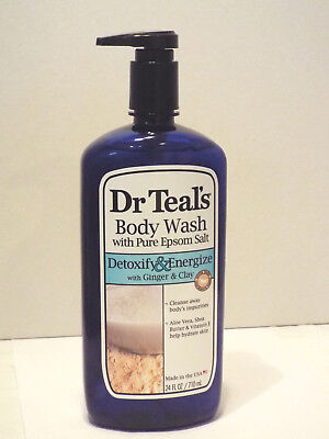 Dr Teal's Ultra Body Wash with Pure Epsom Salt Detoxify and Energize Ginger (Dr Teals Epsom Salt Ginger And Clay)