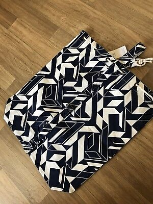 M&S Exclusive Large Nautical Rope Drawstring Heavy Cotton Laundry / Storage Bag