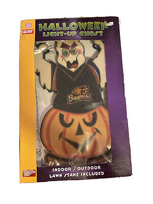 "Halloween Light-up Ghost Indoor/Outdoor Collegiate Sports ""Oregon Beavers"" Sign!"