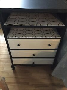 Black & white tall dresser