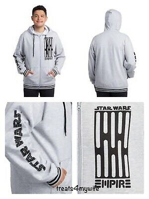 NWT! MAD ENGINE Star Wars Empire Dark Drain Zip-Up Hoodie Men's 2XL~3XL SO SOFT