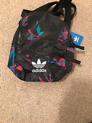 Adidas Originals Mini Classic Backpack Multi Womens Trefoil Logo Bag FU1170