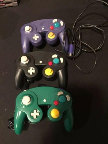 Gamecube Controllers Lot Of 3 Used Free Shipping See Pics
