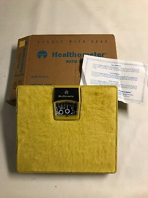 Vintage Health O Meter Scale Gold In Box