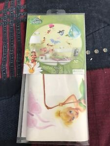 Disney Fairies Peel n stick wall decals 30 pieces brand new