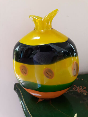 Gorgeous  Handblown Contemporary Modern Large Glass Colorful Vase