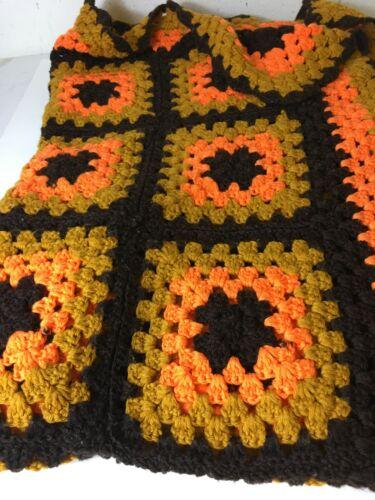 "Handmade Crochet Afghan/Lapghan Blanket 40""x60"" Autumn Colors"