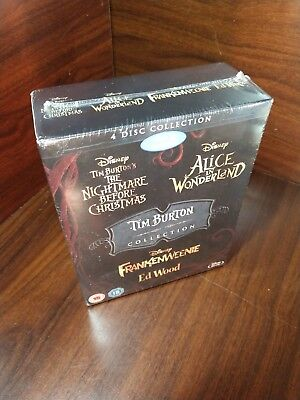 TIM BURTON 3D Movie Collection (Blu-ray Boxset)Slipcover-NEW-Free S&H - Tim Burton Halloween Movie