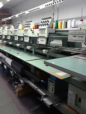 Tajima Commercial Embroidery Machine Tme-hc906 6 Head 9 Needle