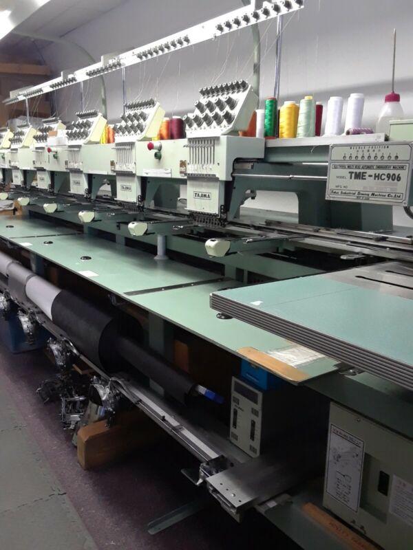 Tajima Commercial Embroidery Machine TME-HC906, 6 head 9 Needle