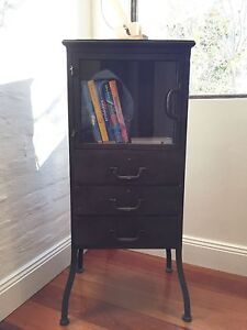Industrial style metal cabinet with glass door and draws Randwick Eastern Suburbs Preview