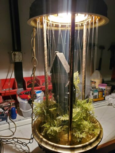 Vintage Hanging Mineral Oil Rain Lamp Watermill 1970