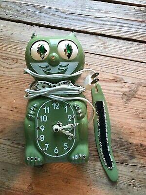 Vintage Kit Cat Klock - Olive/Avocado Green -  (for parts or repair)