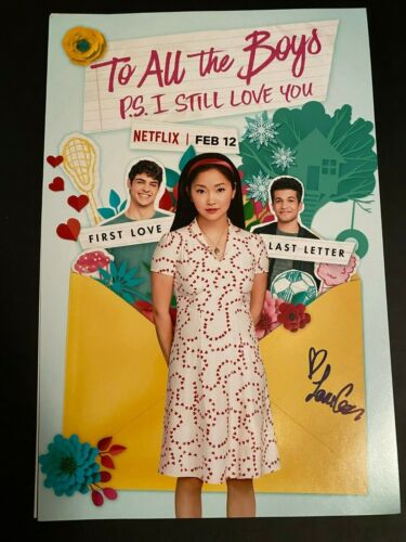 LANA CONDOR SIGNED TO ALL THE BOYS PS I STILL LOVE YOU PHOTO 12X18 AUTOGRAPH
