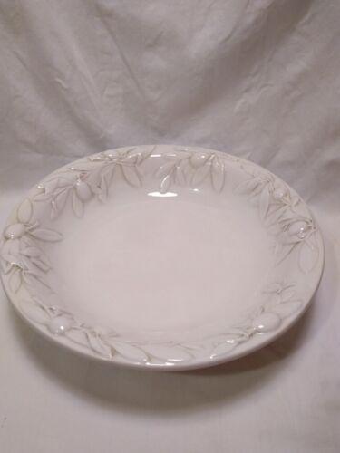 "Williams Sonoma Tuscan Olive 12"" large salad serving bowl"