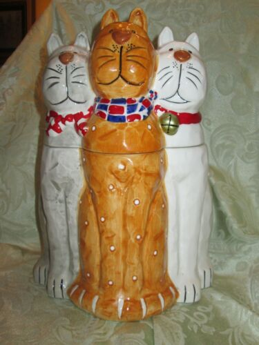 2003 Three Cats Cookie Jar - Good Condition - Free Shipping