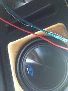 """Alpine amp and  10"""" sub speaker"""