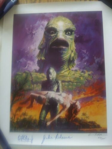 CREATURE FROM THE BLACK LAGOON 13x17 Art Print signed and numbered