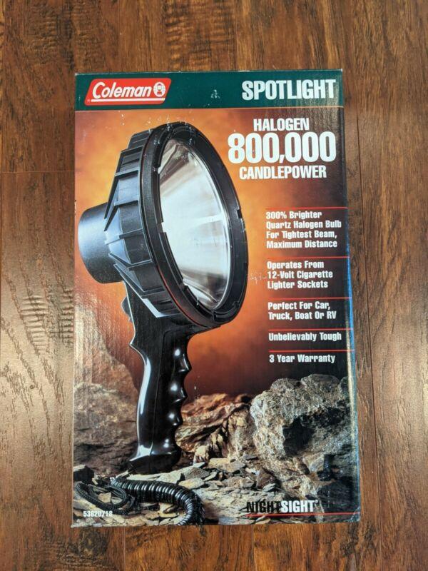 Coleman Halogen 800,000 Candlepower Spotlight Camping Search Light 5362D718 12v