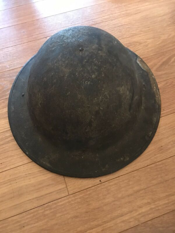 WWI US Army Military Steel Combat HELMET Doughboy w/liner
