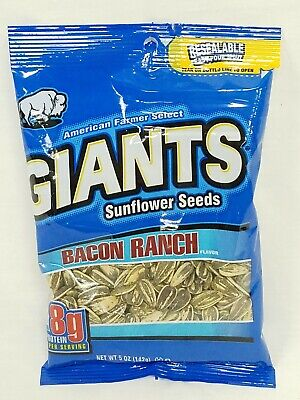 Giants Sunflower Seeds 5oz Bags Bacon Ranch Choose Your -