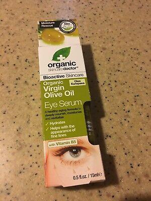 Organic Skincare Doctor Organic Olive Oil Eye Serum 0 5 Oz  New In Box