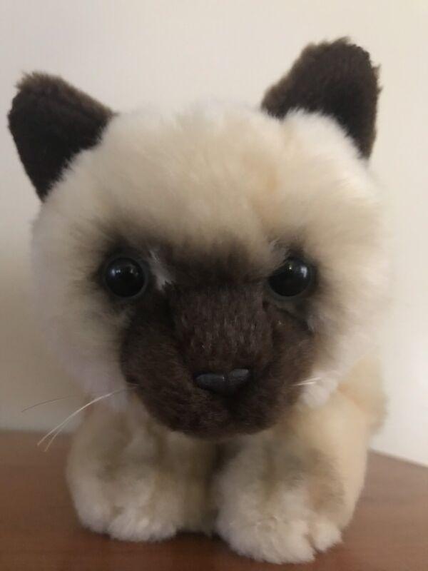 "Toys R Us Animal Alley Plush Siamese Kitten Stuffed Himalayan Kitty Cat 10"""