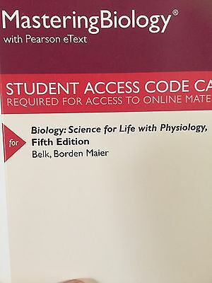 Masteringbiology With Pearson  Biology  Science For Life With Physiology  5Th