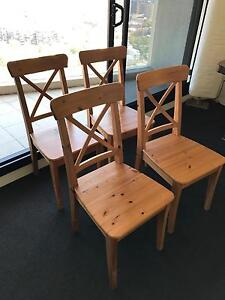 Four barely used in golf IKEA dining chairs Darlinghurst Inner Sydney Preview