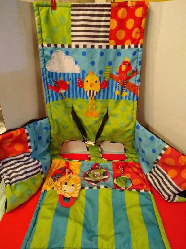 Sassy Multicolor Grocery Shopping Cart High Chair Cover w/ 3 toys