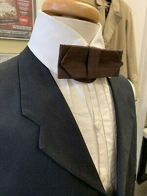 19th century - Victorian style Man's BROWN cotton Cravat / Necktie, buckled, NEW