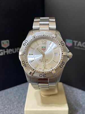 Stunning TAG HEUER Silver Dial Aquaracer WAF1112 + Boxes Booklets