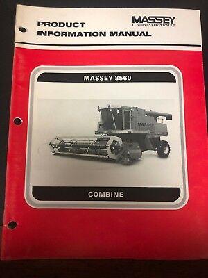 Massey Ferguson 8560 Combine Product Information Manual