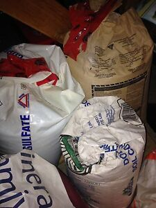 Bags of agricultural minerals for sale