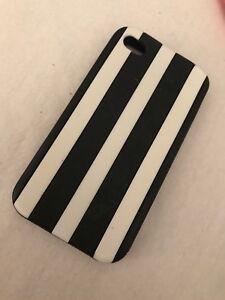 Case iphone 4 ligné noir/blanc victoria's secret