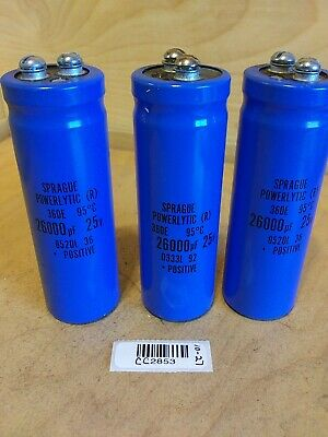 Sprague Powerlytic R Capacitor Lot Of 3