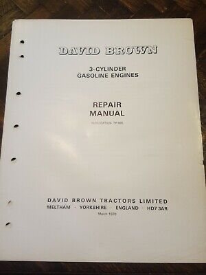 David Brown 3800 4600 Gasoline Engine Service Manual Original